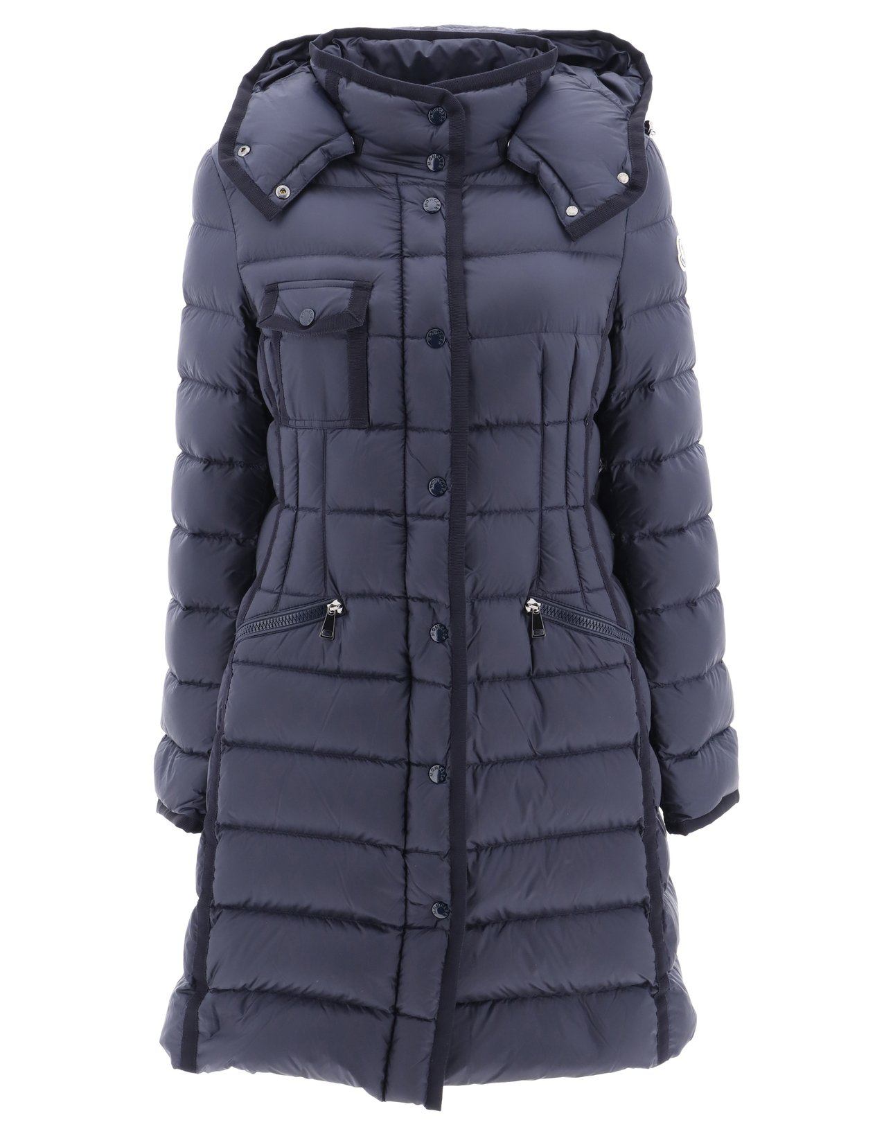af08be6d28c Moncler Hermine Hooded Puffer Jacket In Navy | ModeSens