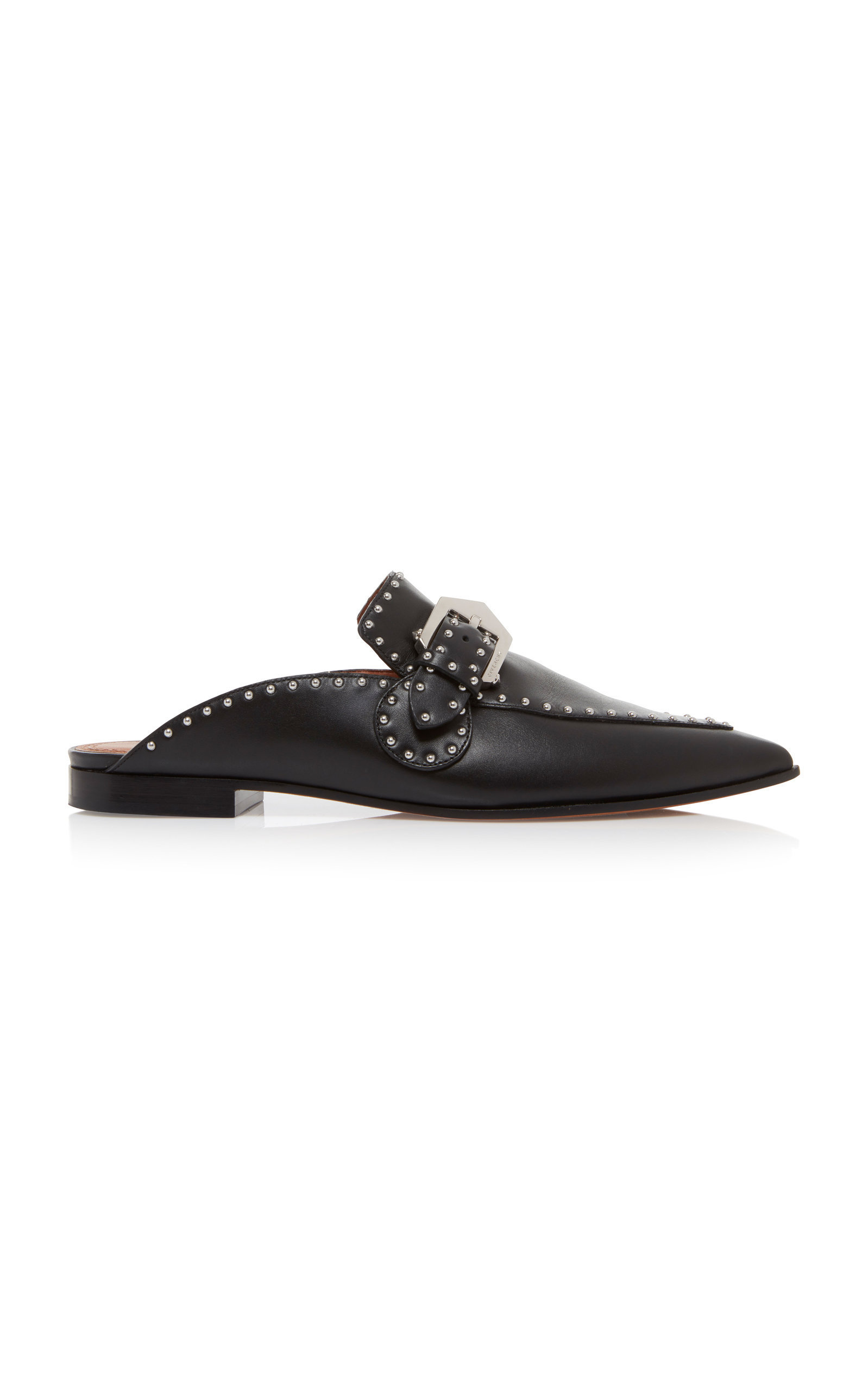 c17774634fa Givenchy Elegant Studded Leather Backless Loafers In Black