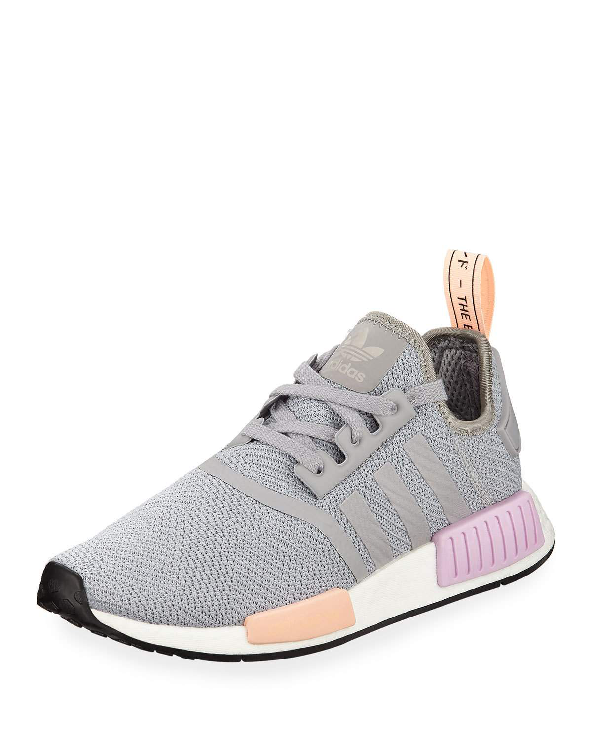 5b124136b7191 Adidas Originals Women s Nmd R1 Knit Low-Top Sneakers In Grey
