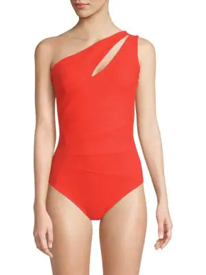 Chiara Boni La Petite Robe Ani One-shoulder One-piece Swimsuit In Red