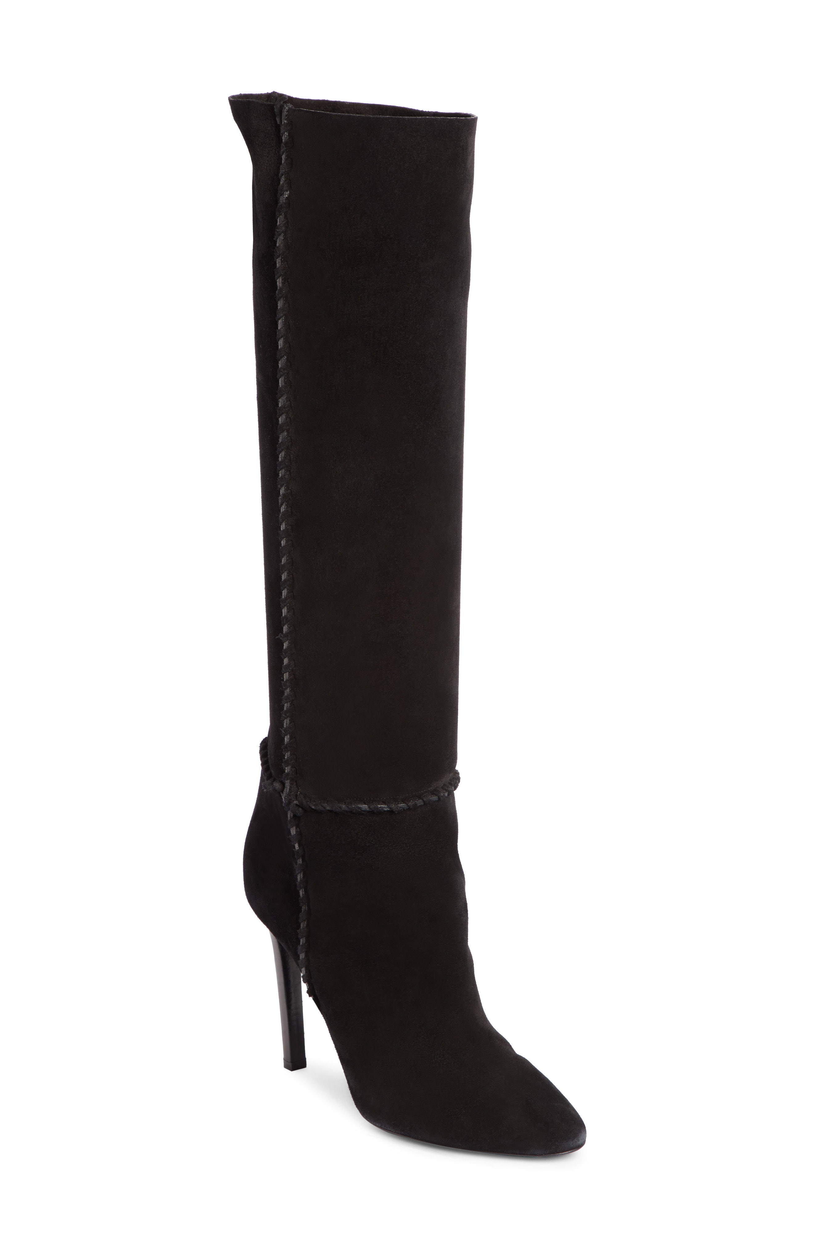 191cbff0c3d Saint Laurent Mica 105 Suede Knee-High Boots In Black | ModeSens