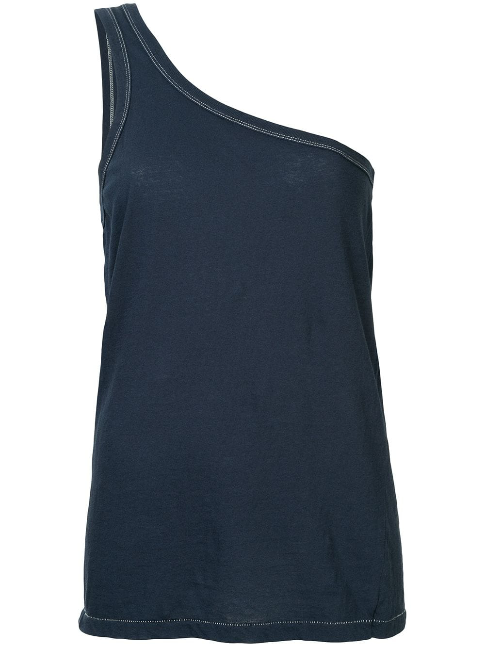 5a39233e69972 Bassike One Shoulder Tank Top - Classic Navy