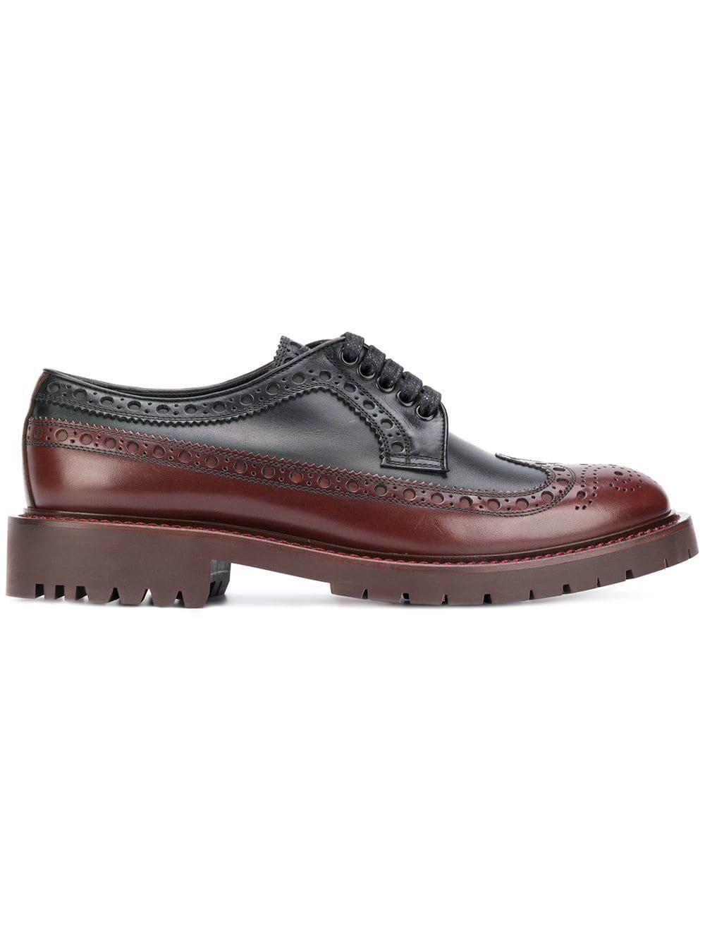 ebc939520 Burberry Derby-Schuhe Aus Leder Mit Brogue-Detail In Black