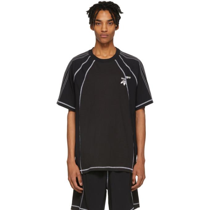 aad2d771 Adidas Originals By Alexander Wang Logo-Detailed Striped Tech-Jersey T-Shirt  In