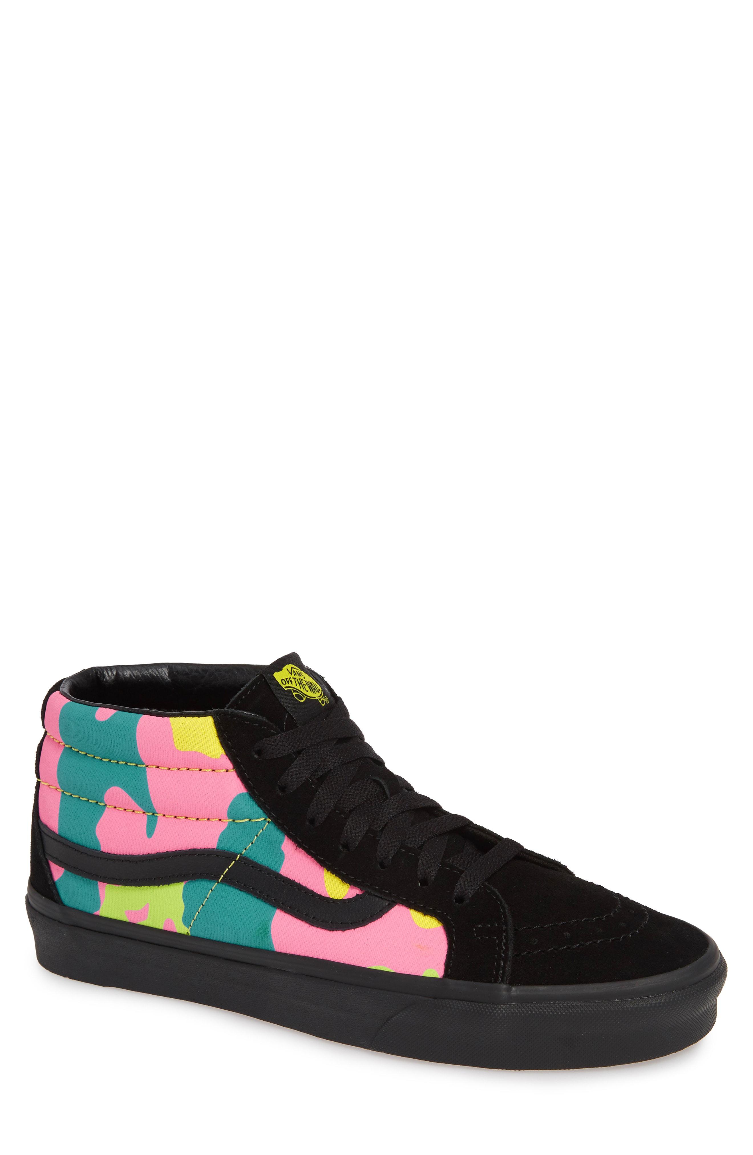 b0bdabb6ae9 Vans Sk8 Mid Reissue Neon Camo Sneaker In Multi Camo  Black