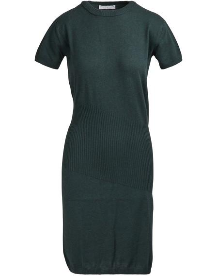 Alexandra Golovanoff China 3/4 Sleeved Midi Dress In Green
