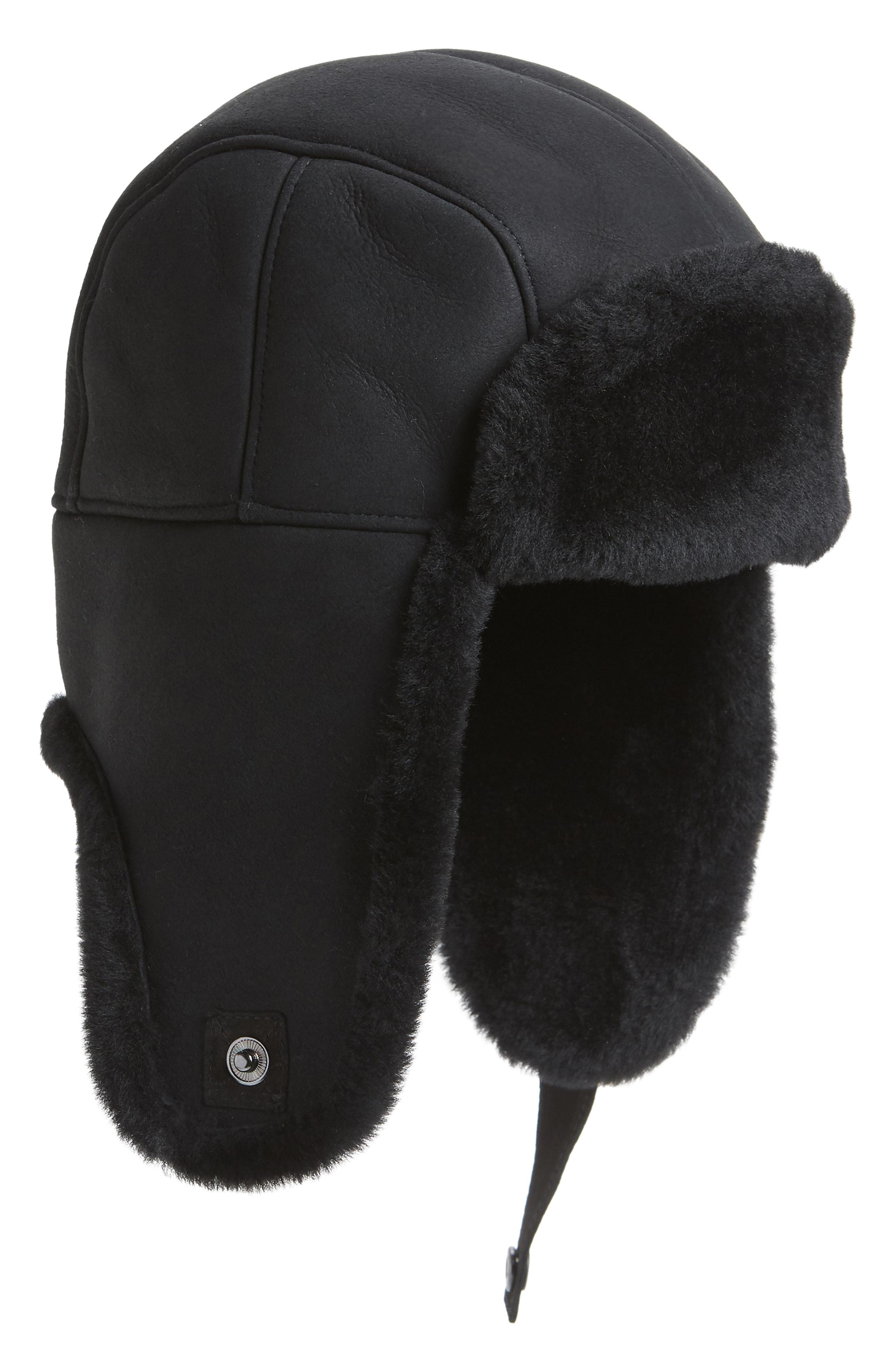 6bd0e06f49bc3 Ugg Men s Shearling-Lined Sheepskin Trapper Hat In Black