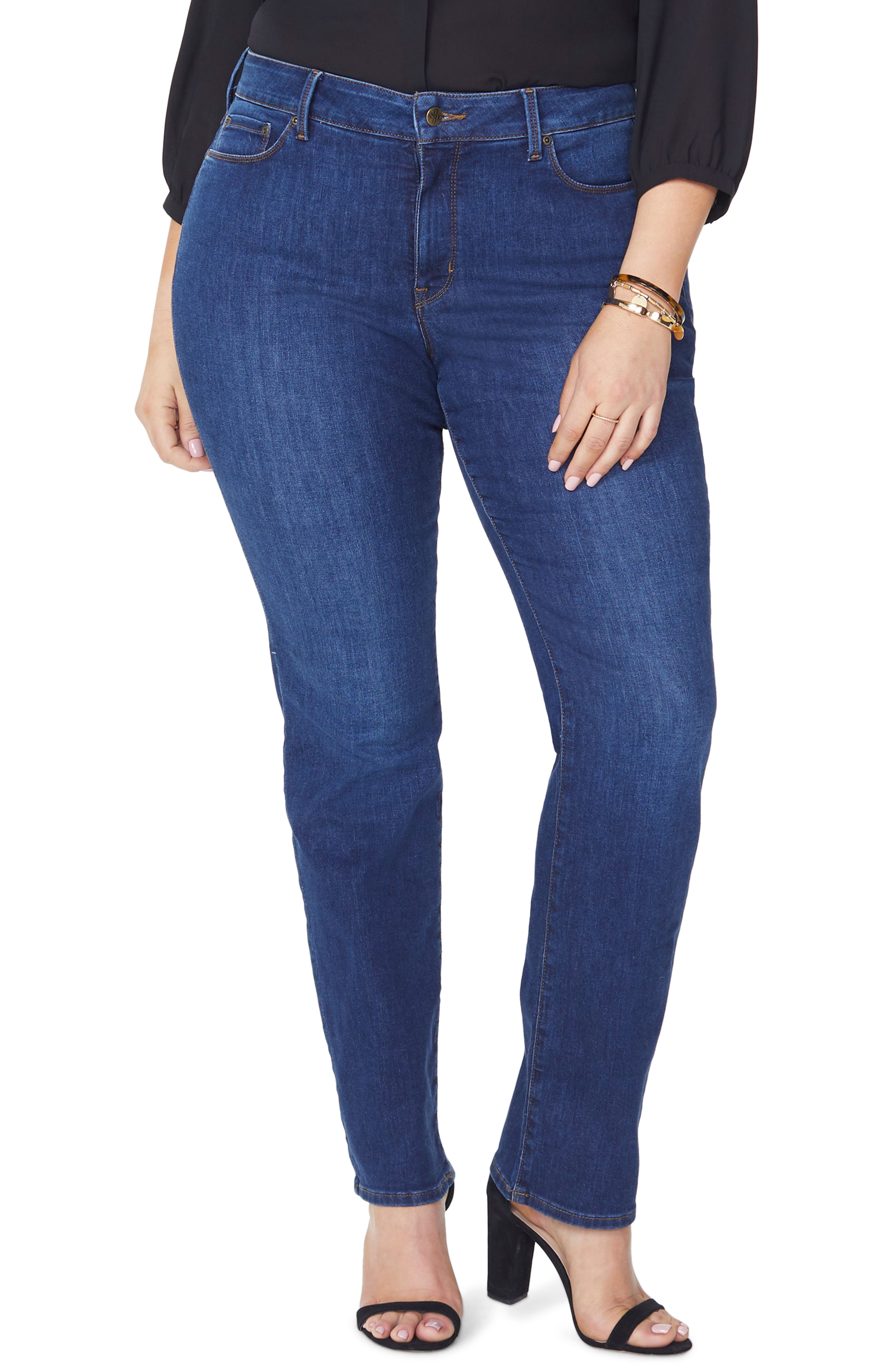 a7cb4322901 Nydj Marilyn High Rise Straight Leg Jeans In Cooper
