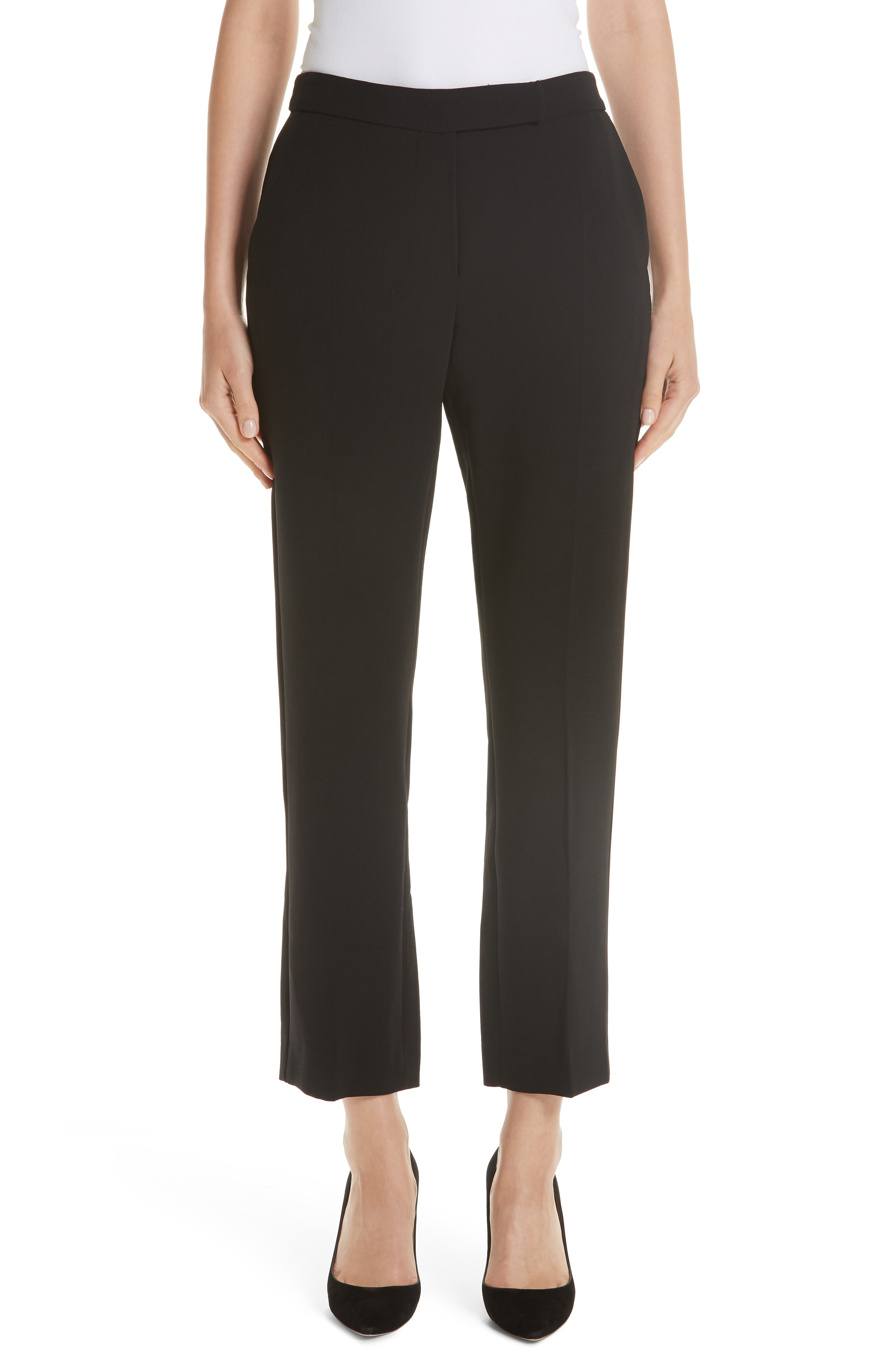 cf4624f8e81 Max Mara Ostile Straight-Leg Stretch-Wool Pants In Black   ModeSens