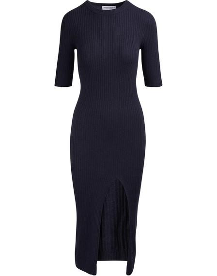 Alexandra Golovanoff Maxi Mini 3/4 Sleeved Long Dress In Grey