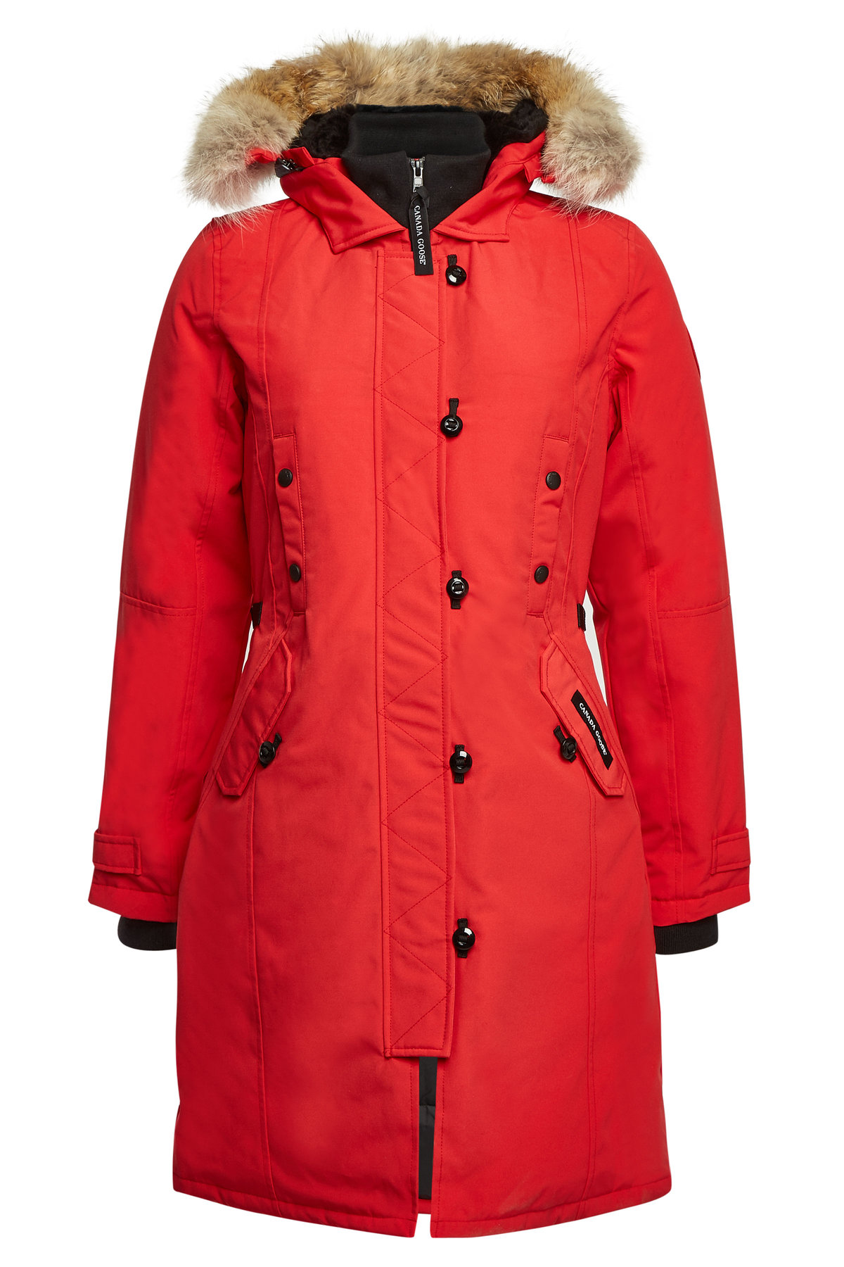 Canada Goose Kensington Down Parka With Fur-trimmed Hood In Red