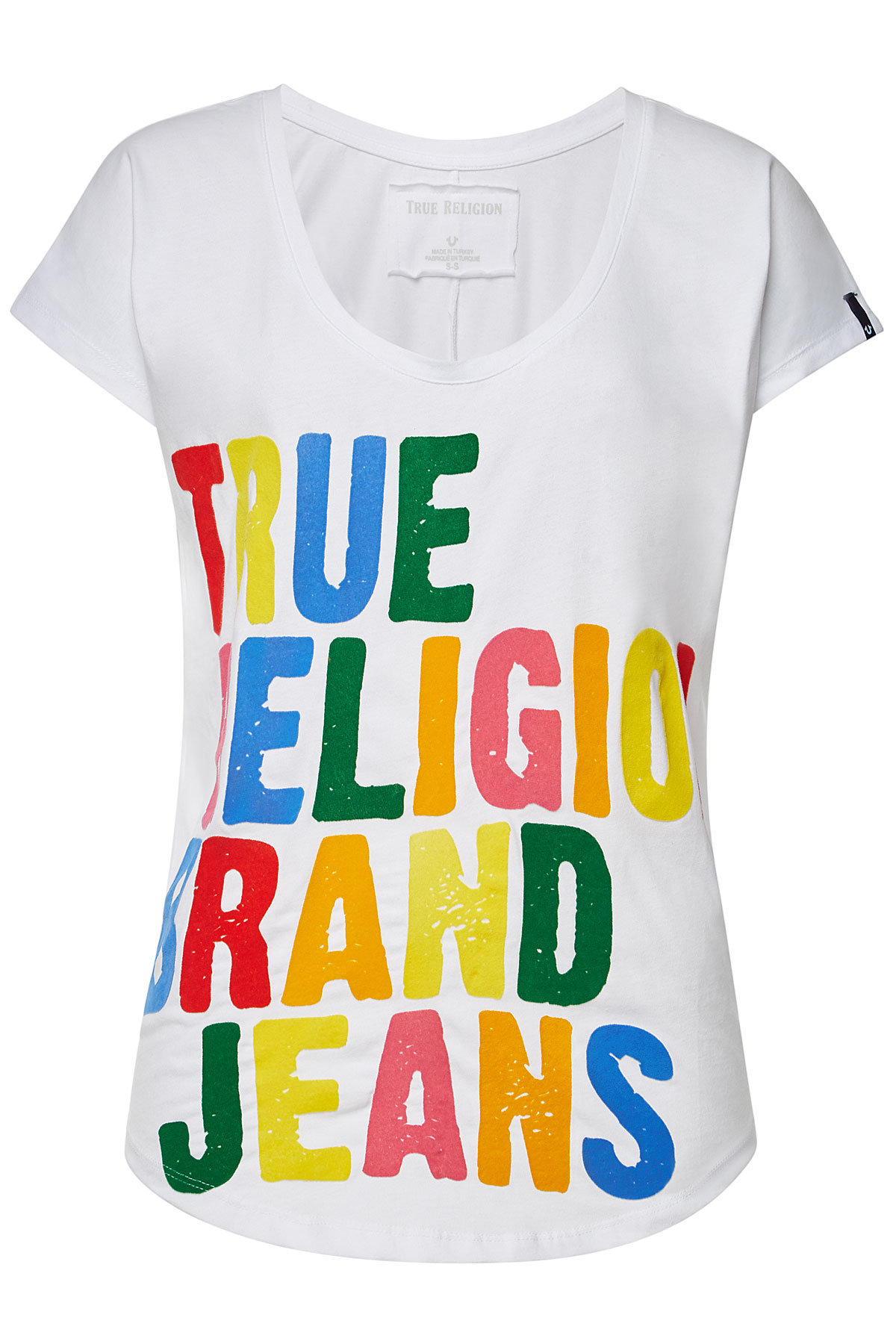 True Religion Cotton Relax Short Sleeve T-shirt In Multicolored