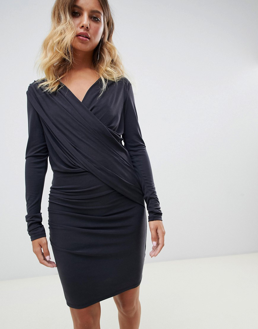 Allsaints Sofia Slinky Jersey Dress-black