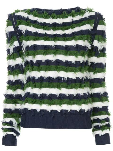 Sonia Rykiel Striped Sweater In Multicolour