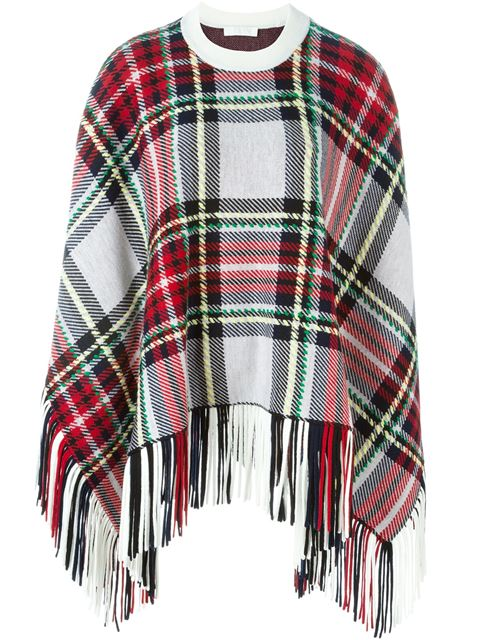 Chloé Checked Poncho