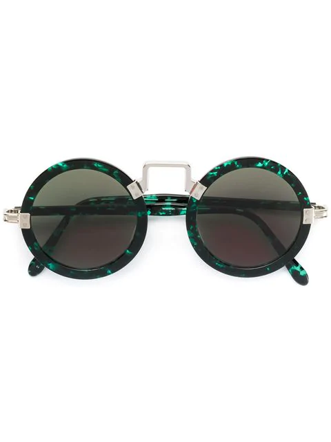 Jean Paul Gaultier Vintage Circle Shaped Sunglasses In Green
