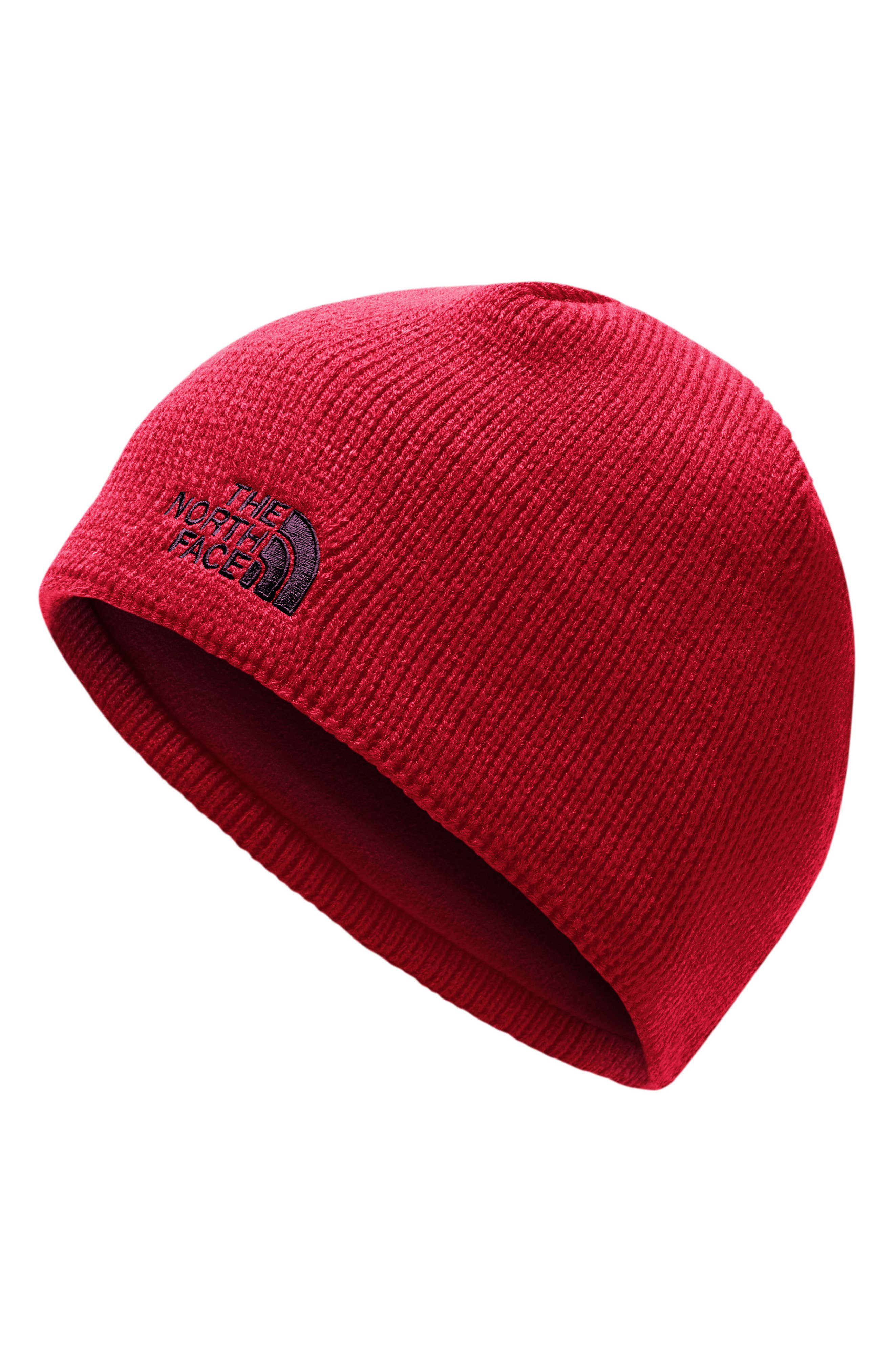 03017190d0528 The North Face Bones Fleece Lined Beanie - Red In Rage Red/ Fig ...