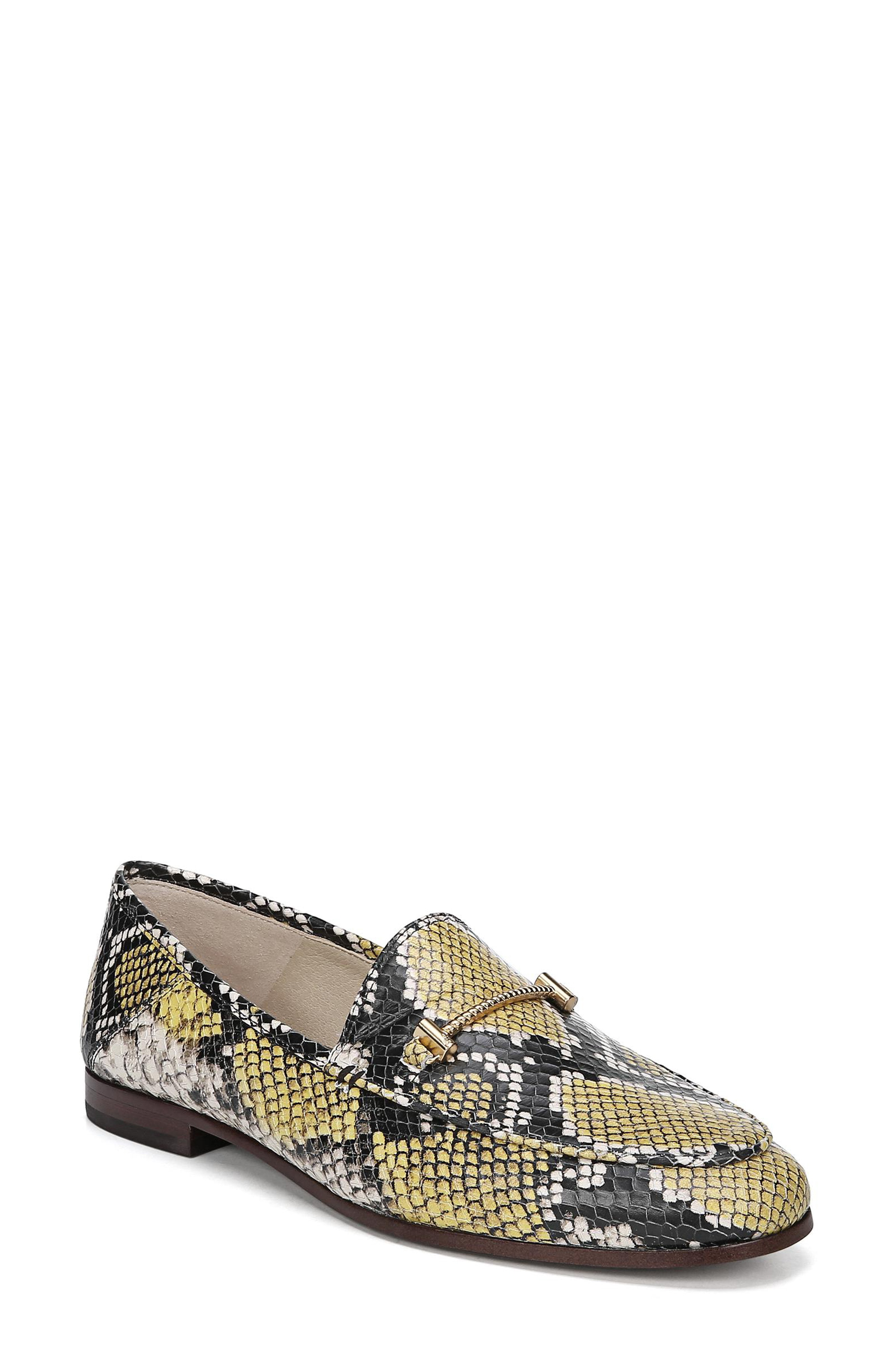 034eb16c1 Sam Edelman Lior Loafer In Yellow Snake Print Leather