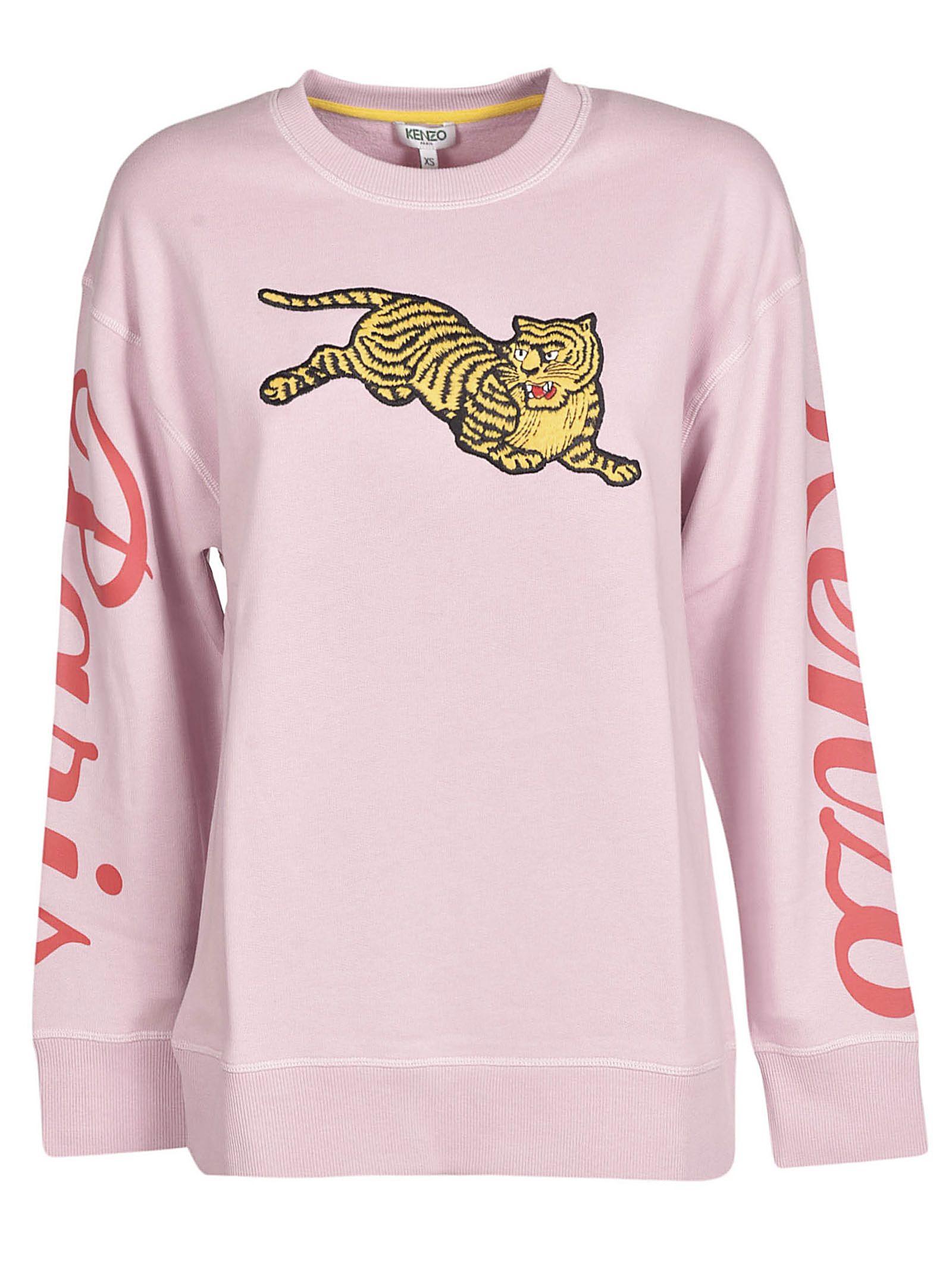 e84b817d Kenzo Embroidered Jumping Tiger Sweatshirt In Rose Pastel | ModeSens