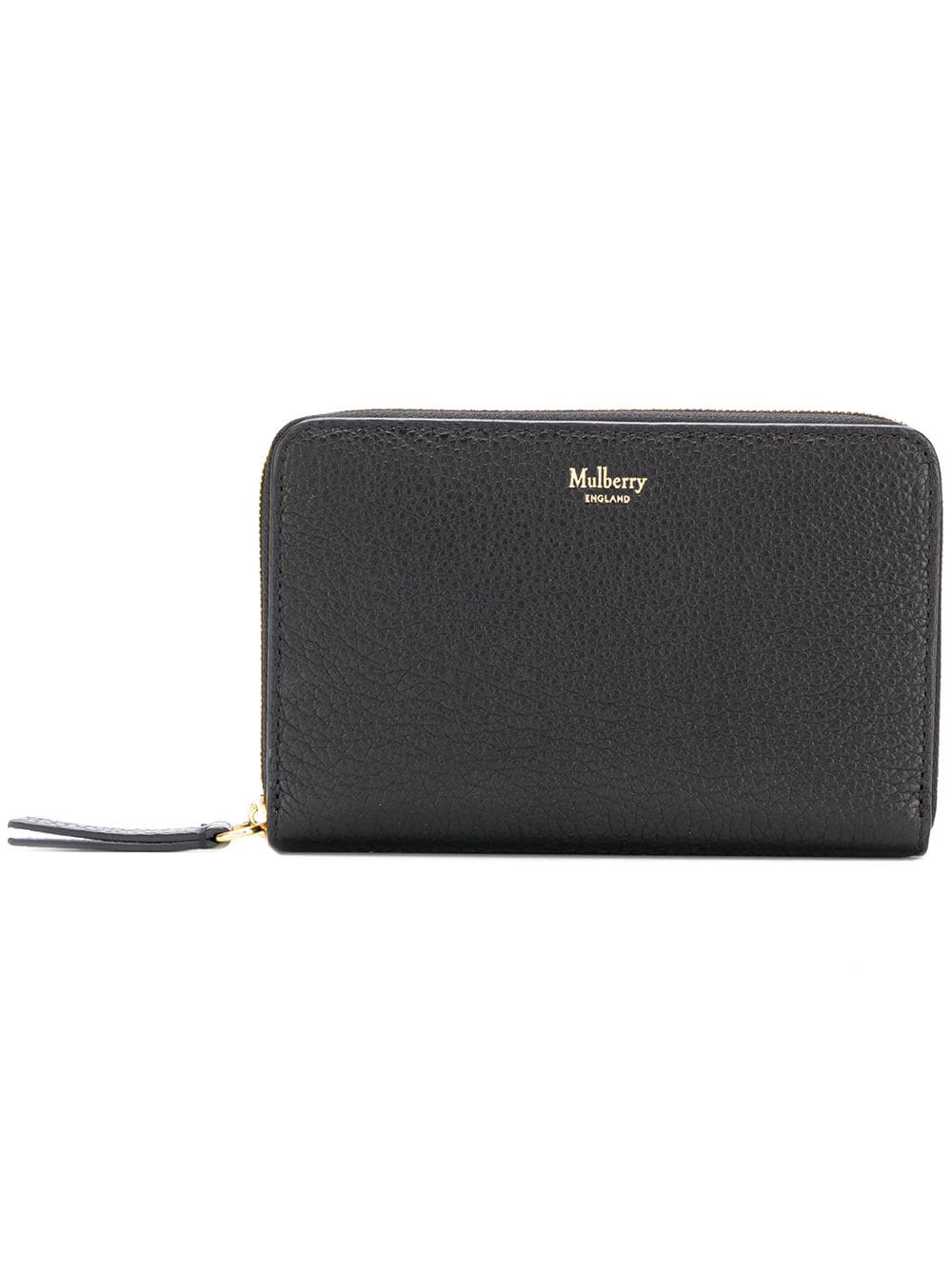f770681615 Mulberry Zipped Wallet - Black | ModeSens