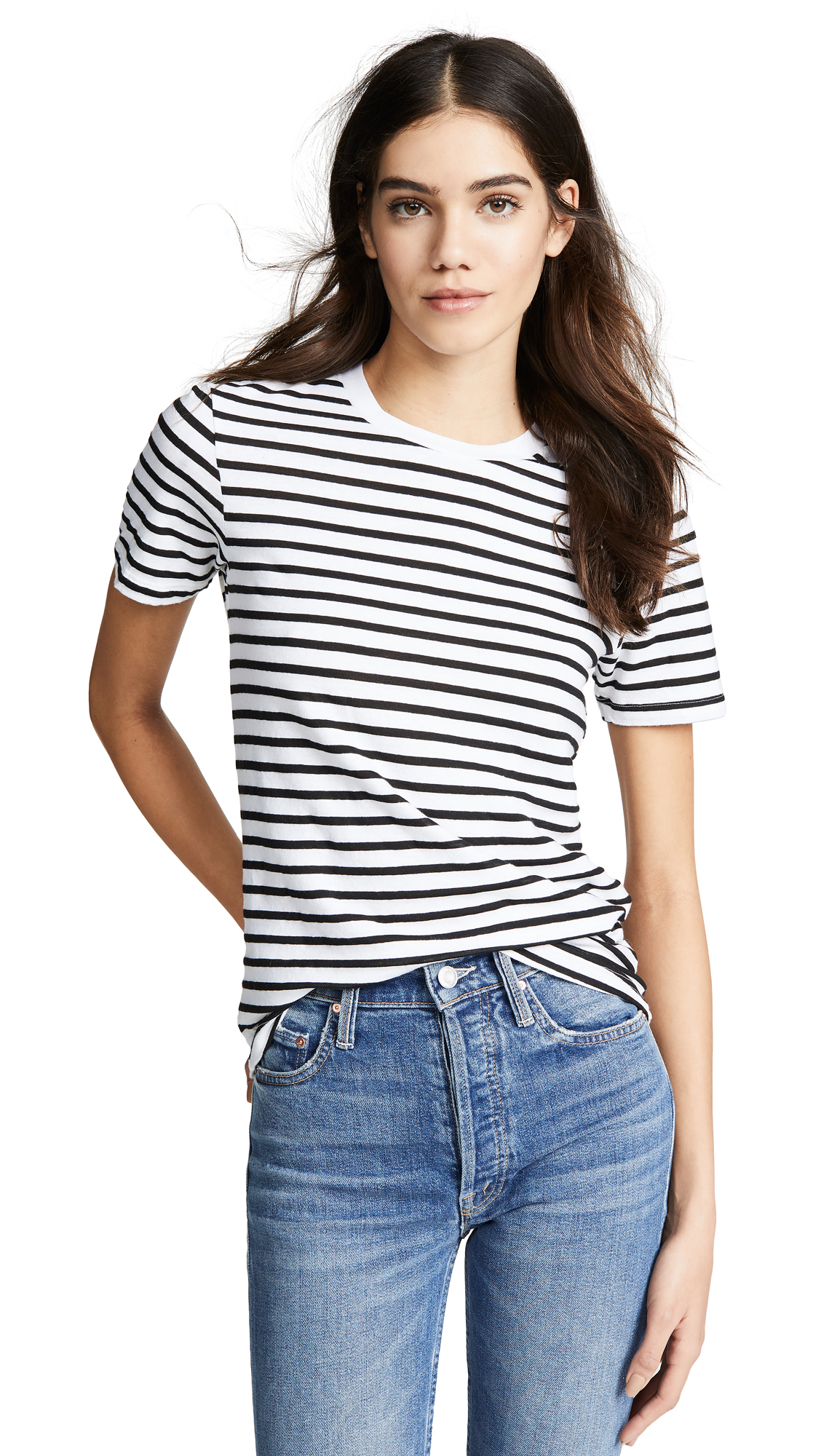 87421b462ee3 Ag Gray Boy Tee In True White True Black Stripe