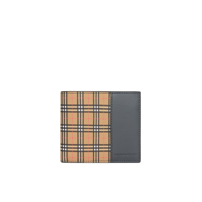 Burberry Small Scale Check International Bifold Wallet In Yellow