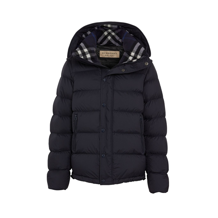 df046ac8f87 Burberry Detachable-Sleeve Down-Filled Hooded Puffer Jacket In Blue ...