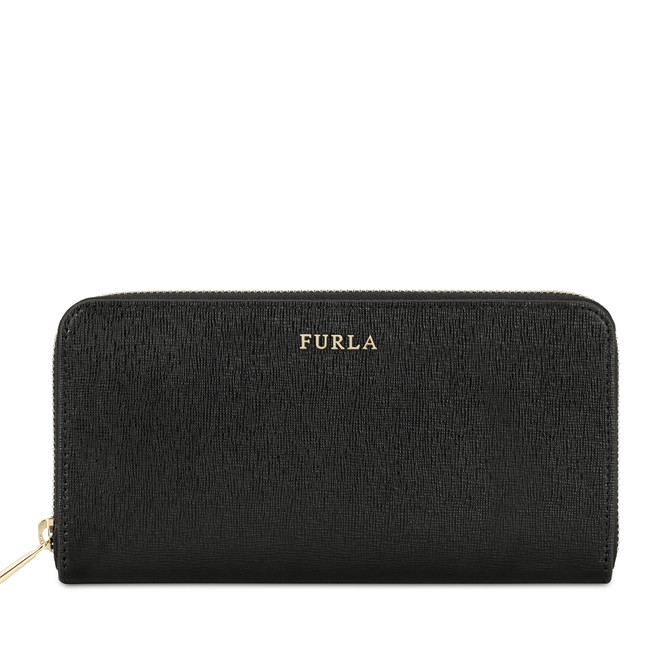 Furla Babylon Zip Around Portemonnaie Onyx In Black