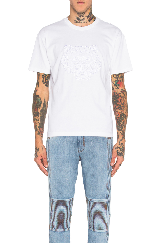 202655da24 Kenzo Embroidered Tiger-Print Cotton T-Shirt In White | ModeSens