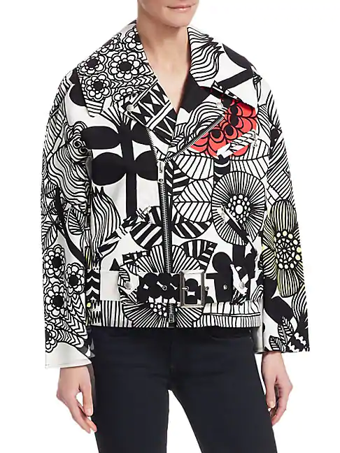 5fb79a7a953b Junya Watanabe Floral Print Double Breasted Jacket In Black