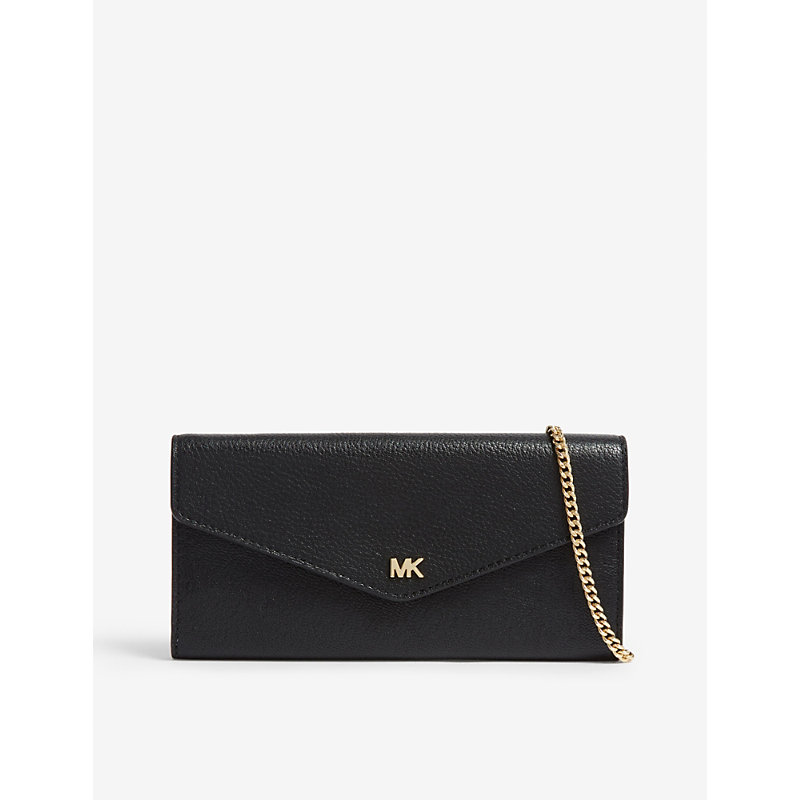 b3c71175bebef9 Michael Michael Kors Leather Envelope Wallet In Black | ModeSens