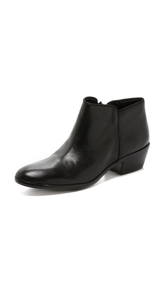 Sam Edelman Petty Leather Ankle Boots In Black