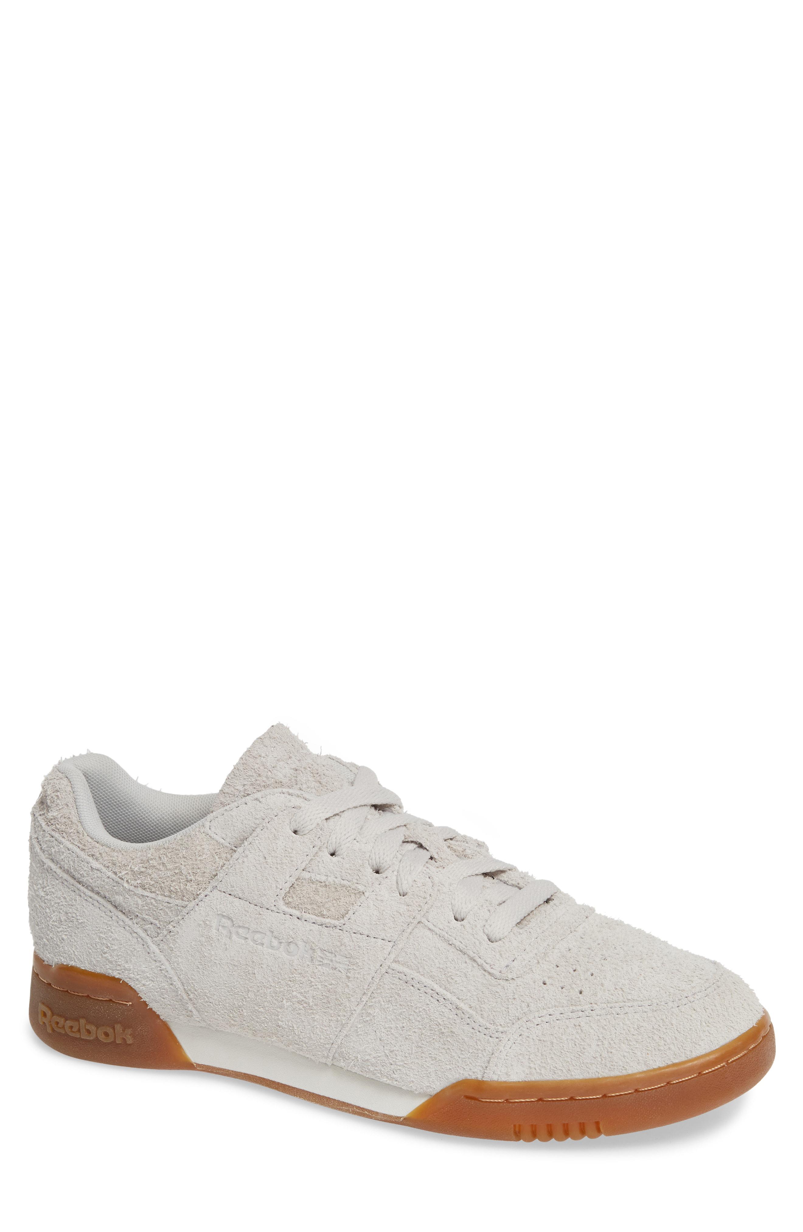bb60c008044 Reebok Men s Workout Plus Suede Low-Top Sneakers In Grey  White  Gum ...
