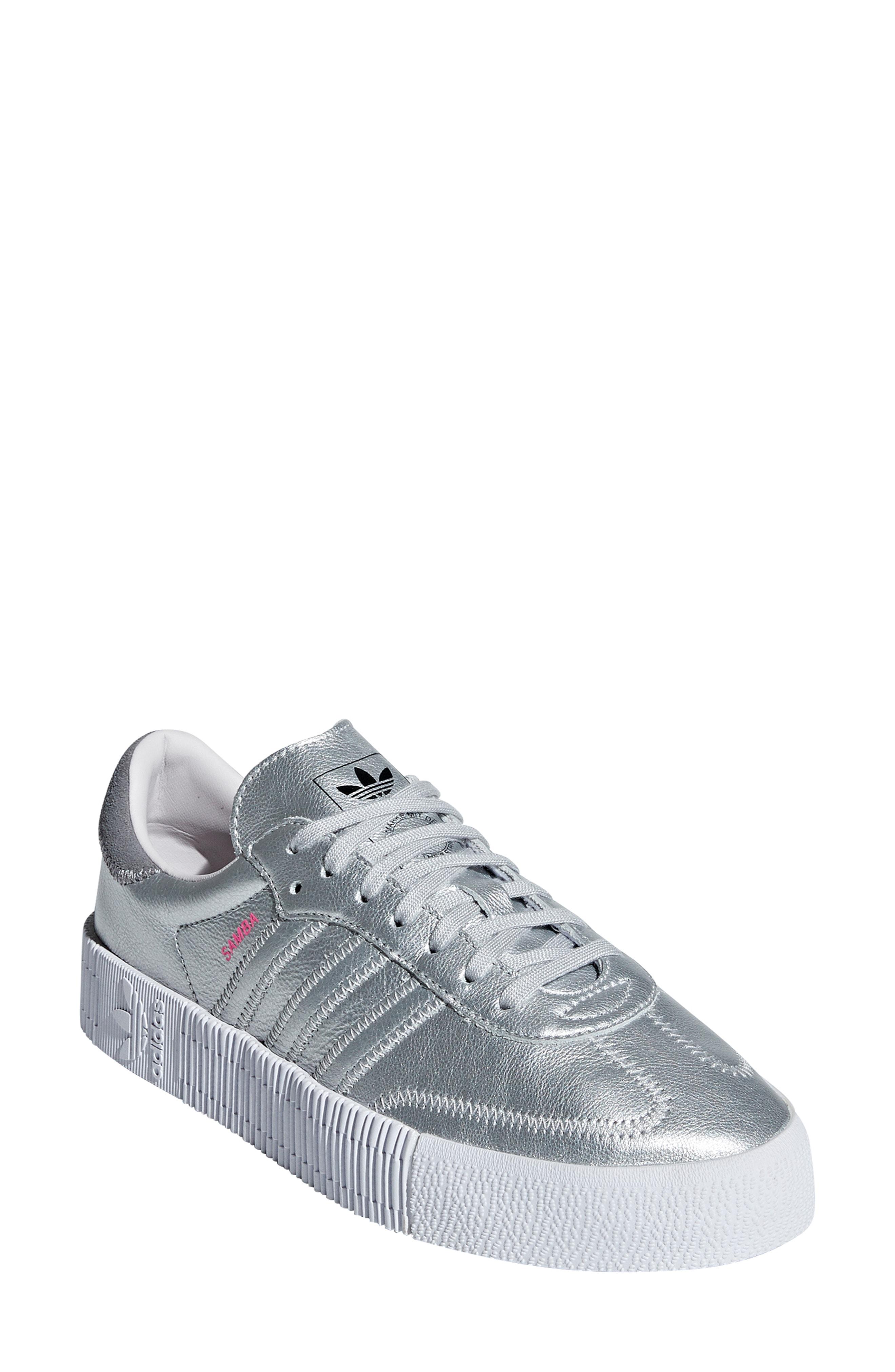 Adidas Originals Samba Rose Sneaker In Silver Metallic  Orchid Tint ... b44731284