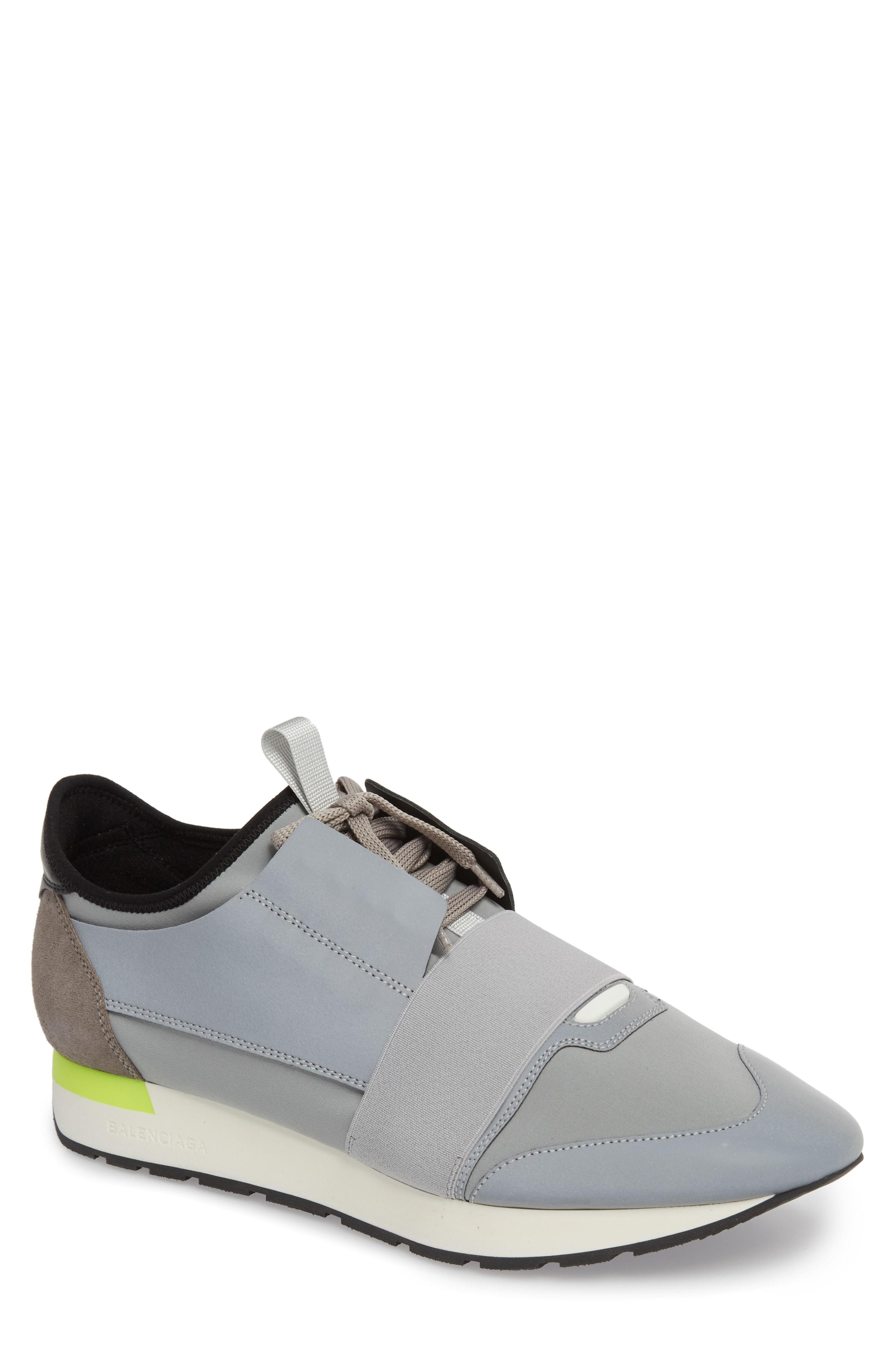 2b2c70326a76e Balenciaga Men s Reflective Race Runner Mesh   Leather Sneakers ...