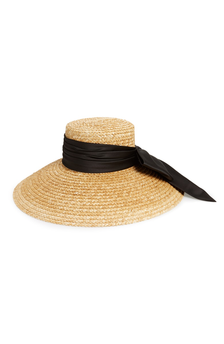 326350387d3e0 Eugenia Kim Mirabel Textured Straw Sun Hat W  Satin Bow In Natural ...
