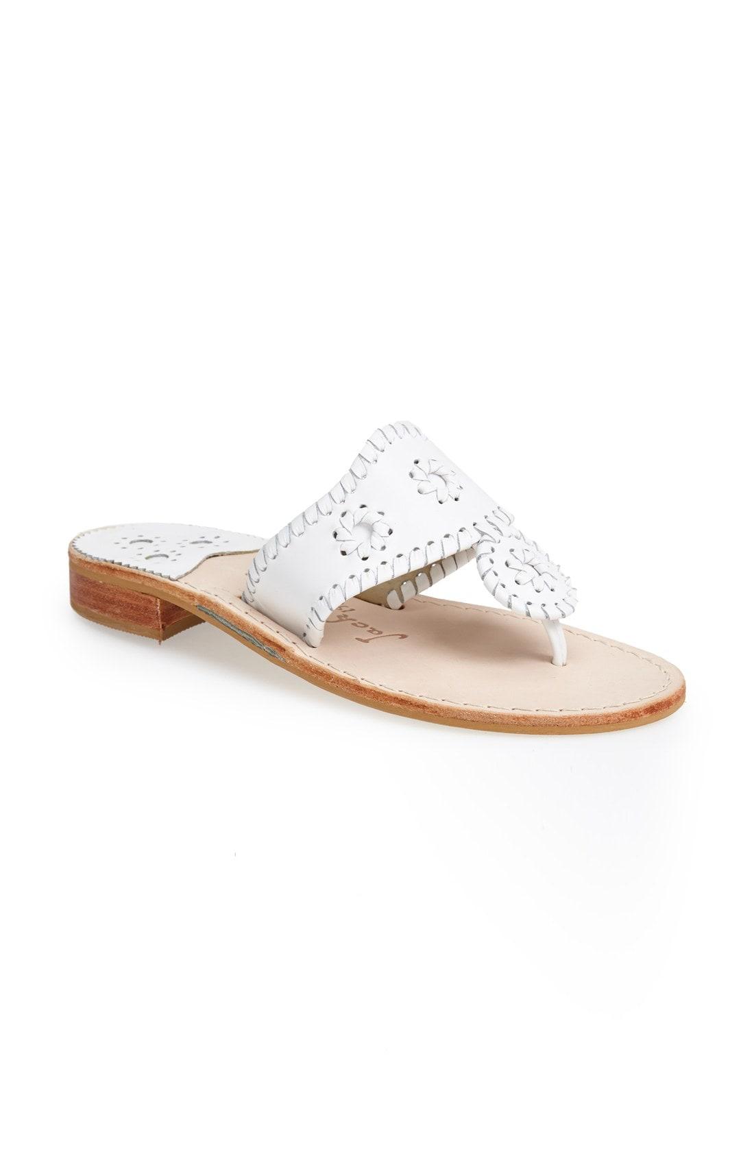 88d5d09dd54d Jack Rogers Jacks Flat Thong Sandals In White