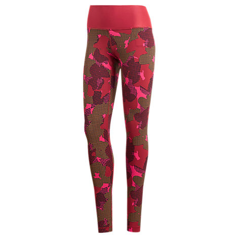 d048450ca587b Adidas Originals Adidas Believe This Printed High-Rise Ankle Leggings In  Noble Maroon Print