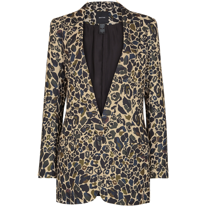 6c718d33662f3 Smythe Leopard-Print Camouflage Blazer In Green | ModeSens