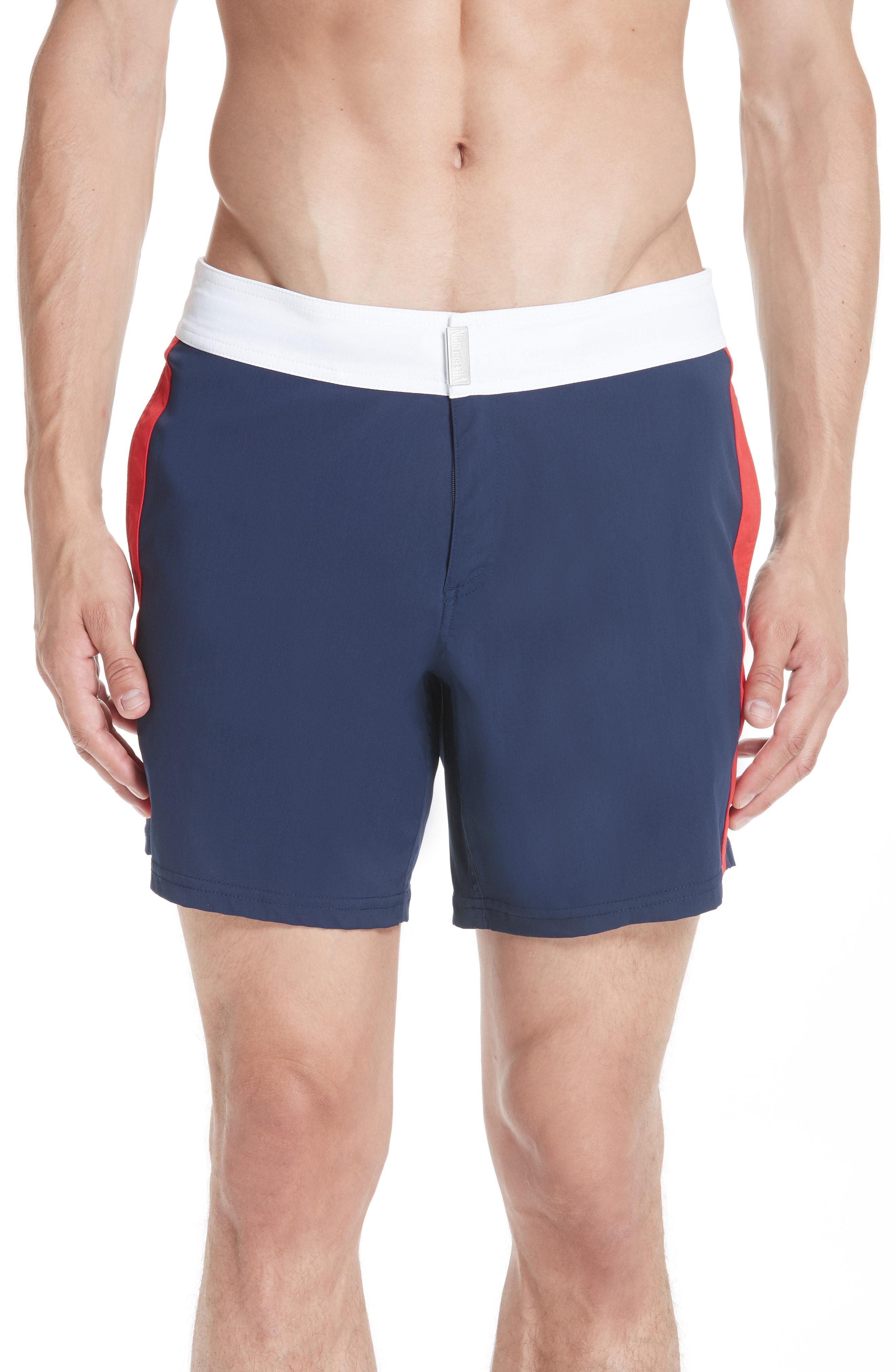 16aa79289a Vilebrequin Men Swimwear - Men Flat Belt Stretch Swimtrunks Tricolor -  Swimwear - Merle In Navy