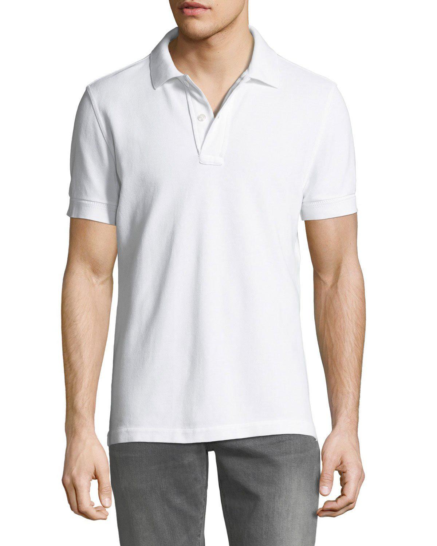 1f38e308 Tom Ford Garment-Dyed Cotton-PiquÉ Polo Shirt In White | ModeSens