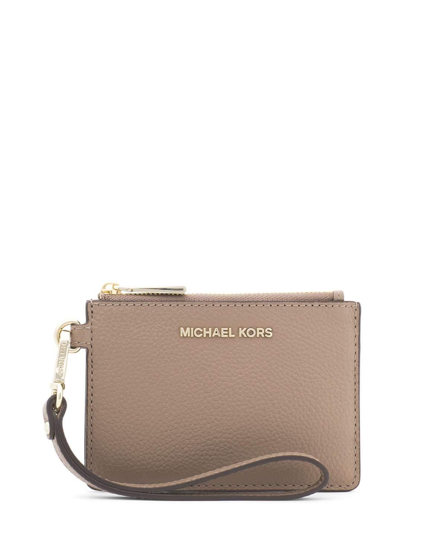 87d886c33536 MONEY PIECES SMALL LEATHER COIN PURSE. MICHAEL Michael Kors coin purse in  pebbled leather. Detachable wristlet strap.
