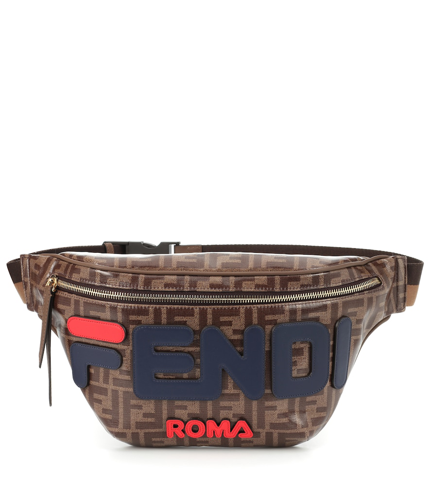 e0eaafc073e7 Fendi X Fila Mania Logo Belt Bag - Brown
