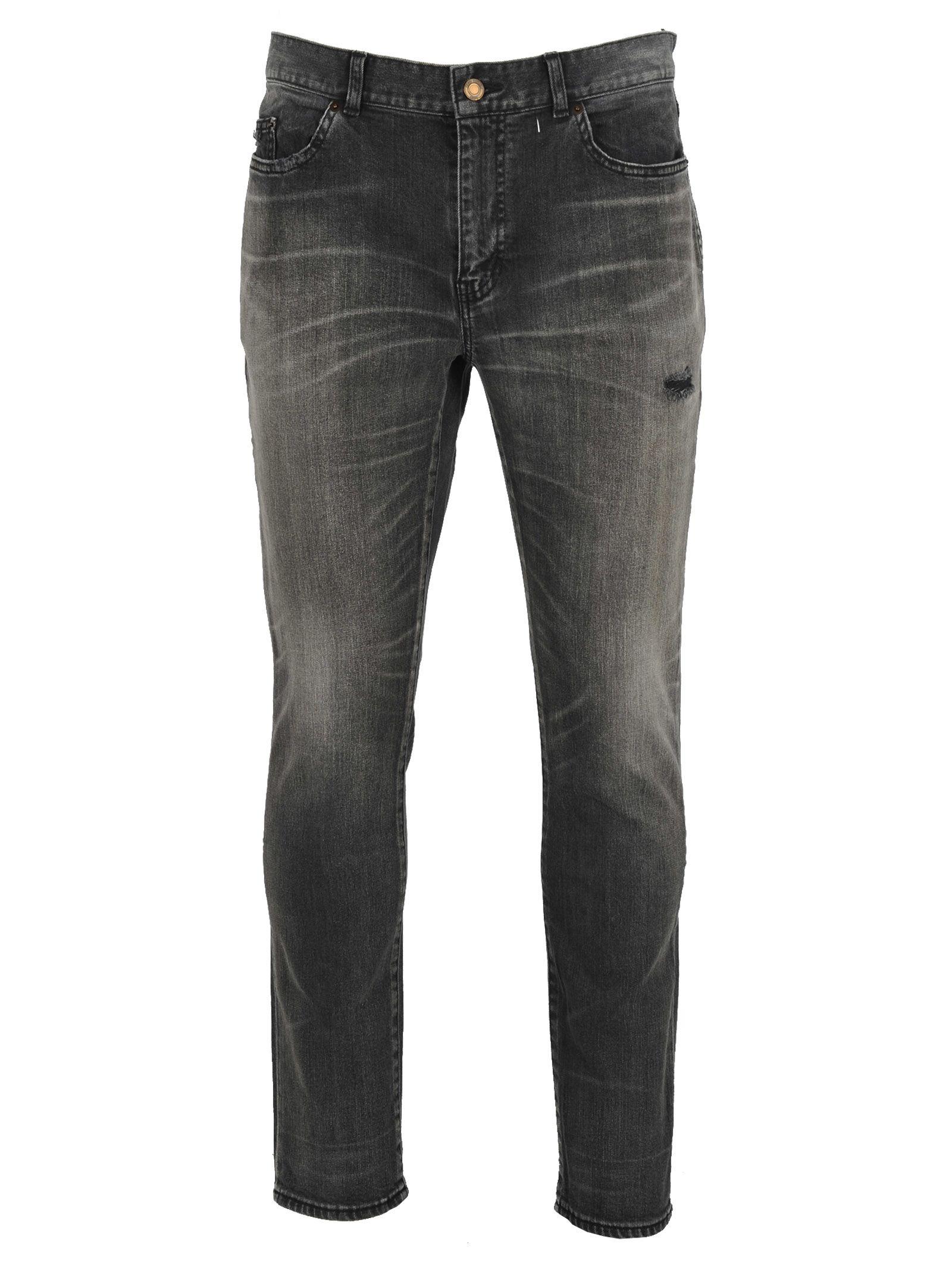 94b461b9120d7 Saint Laurent 15Cm Skinny Cotton Denim Jeans In Black
