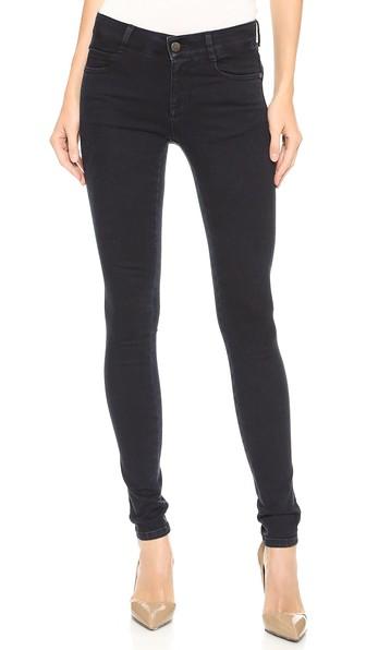 Stella Mccartney The Skinny Long Jeans In Blue/black