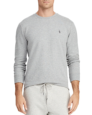 302694d8e50 Polo Ralph Lauren Men s Solid Waffle-Knit Crew-Neck Thermal Top In Andover  Heather