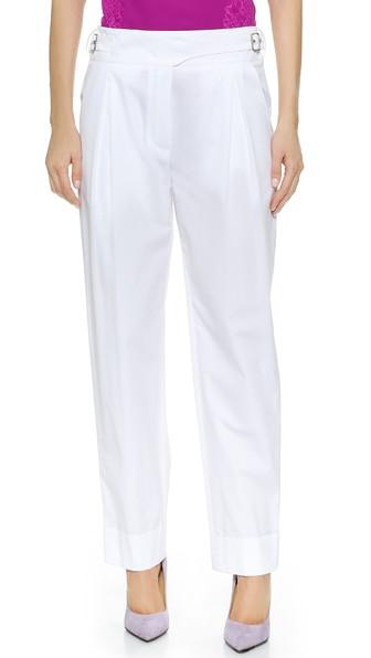 Nina Ricci Straight Pants In White
