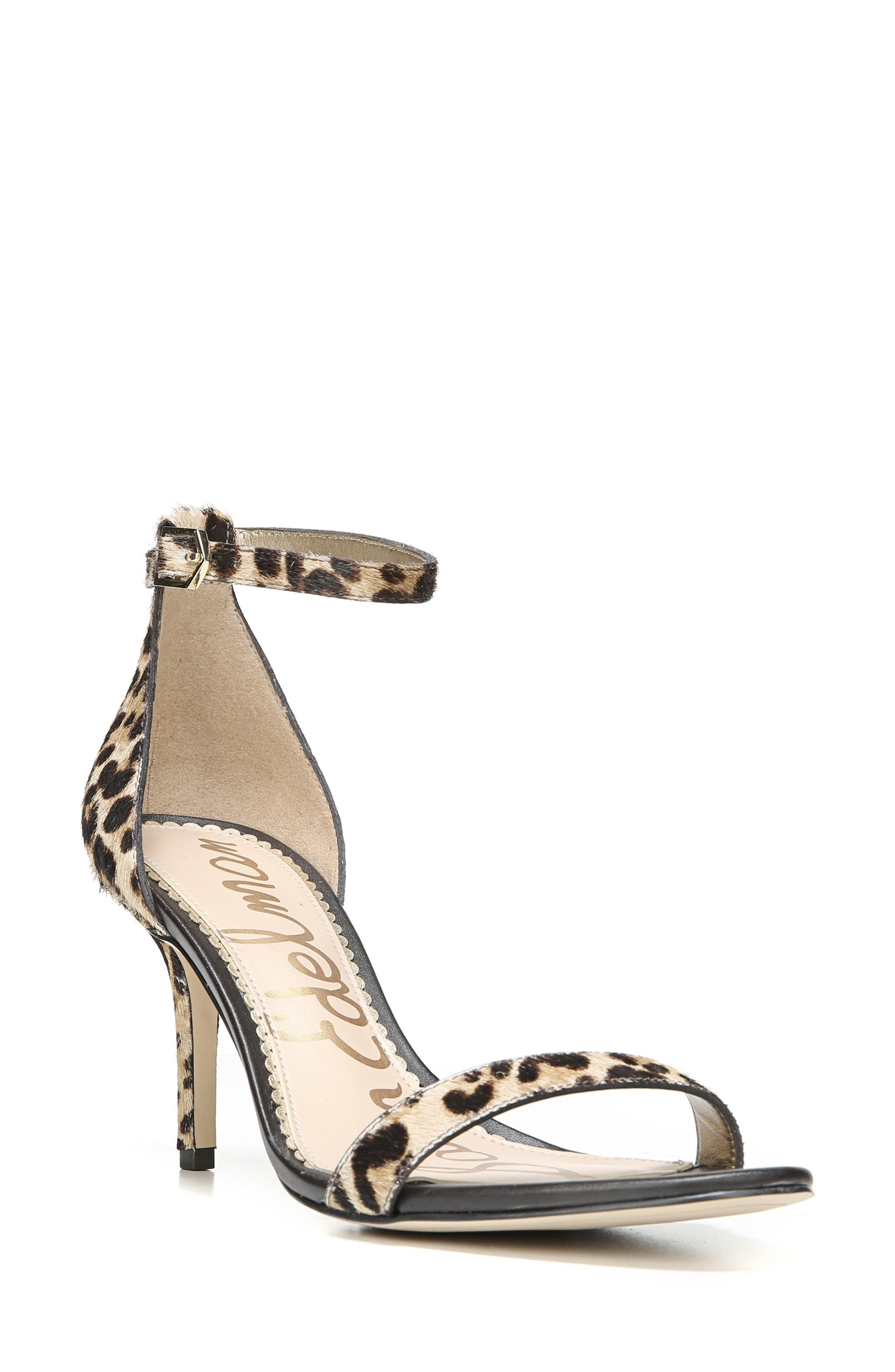 a02e89569091 Sam Edelman Women s Patti Open Toe Leopard-Print Calf Hair High-Heel Sandals  In