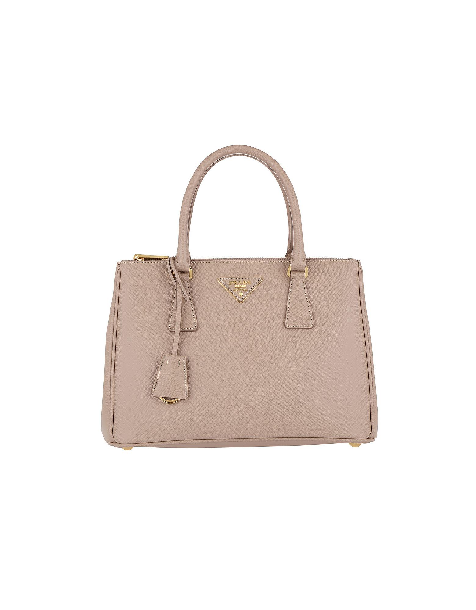 95cb3b47806e Prada Galleria Saffiano Small Leather Tote In Neutrals | ModeSens