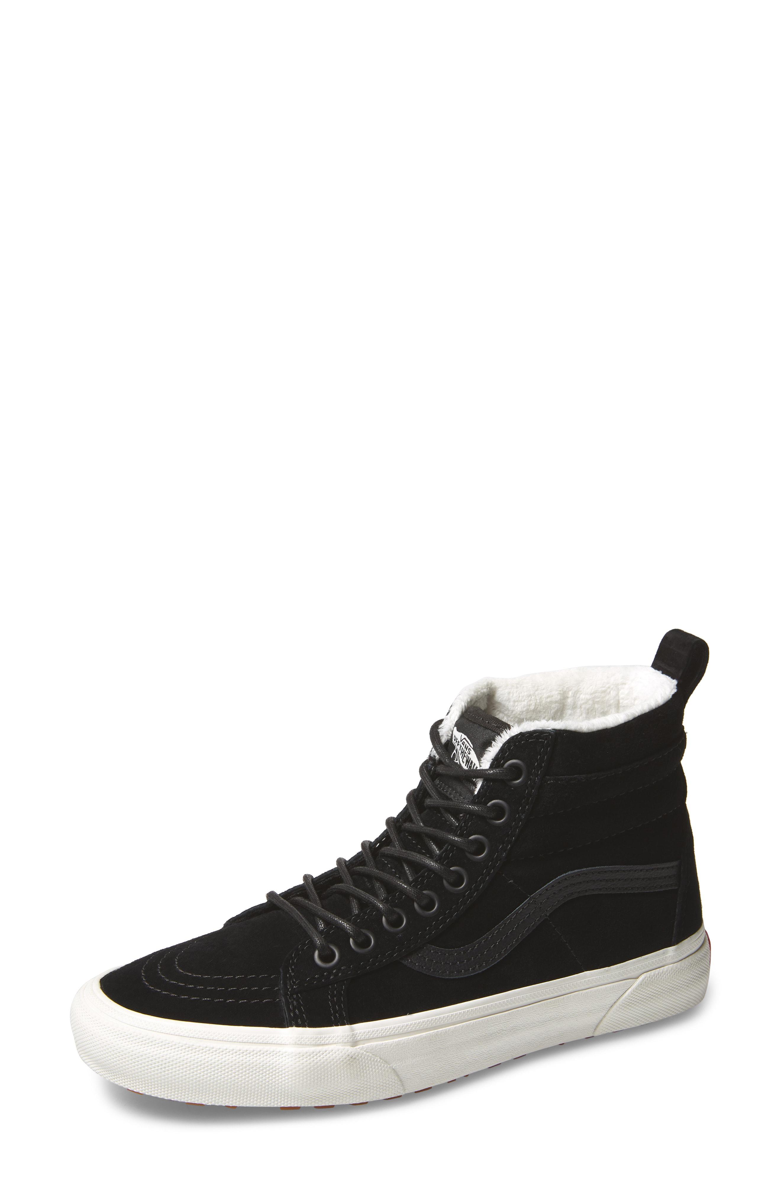 c7a38f0c9e Vans Sk8-Hi Mte Sneaker In Black  Marshmallow Suede
